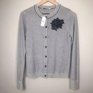 🛍4/$20🛍 NWT Loft striped cardigan XS